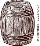 wine cask | Shutterstock .eps vector #122371474