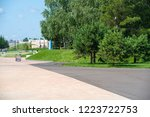 urban photography  a lawn is an ... | Shutterstock . vector #1223722753