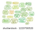 set of stickers with handmade... | Shutterstock .eps vector #1223730520