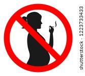 no smoking sign concept.... | Shutterstock .eps vector #1223733433