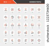 vector set of business people... | Shutterstock .eps vector #1223734600