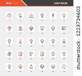vector set of light bulbs flat... | Shutterstock .eps vector #1223734603