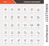 vector set of corporate... | Shutterstock .eps vector #1223734606