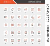 vector set of customer service... | Shutterstock .eps vector #1223734609