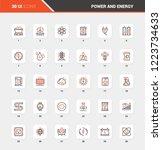 vector set of power and energy... | Shutterstock .eps vector #1223734633