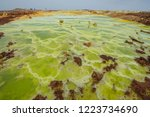 dallol is an active volcanic... | Shutterstock . vector #1223734690