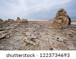 dallol is an active volcanic... | Shutterstock . vector #1223734693