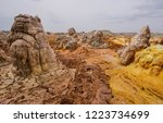 dallol is an active volcanic... | Shutterstock . vector #1223734699