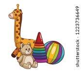 kids toys cartoon | Shutterstock .eps vector #1223736649