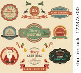 collection of christmas design... | Shutterstock .eps vector #122373700