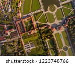 top view of the palace and park ... | Shutterstock . vector #1223748766