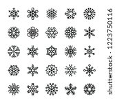 set of geometric snowflakes | Shutterstock .eps vector #1223750116