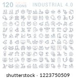 set of vector line icons of... | Shutterstock .eps vector #1223750509