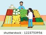 a vector illustration of boy...   Shutterstock .eps vector #1223753956