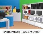 a vector illustration of family ... | Shutterstock .eps vector #1223753980