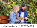 read same book together. couple ...   Shutterstock . vector #1223756539