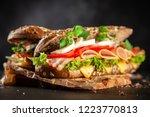 classic blt sandwiches | Shutterstock . vector #1223770813