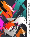 colorful abstract geometric | Shutterstock . vector #1223771866