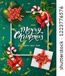 christmas green design vector... | Shutterstock .eps vector #1223776576