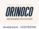 orinoko condensed oblique san... | Shutterstock .eps vector #1223781940