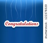 congratulations card with... | Shutterstock .eps vector #122378320