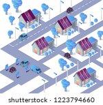 alternative energy concept... | Shutterstock .eps vector #1223794660