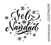 happy new year stroke spanish... | Shutterstock .eps vector #1223796109
