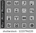 sport vector web icons on the... | Shutterstock .eps vector #1223796220