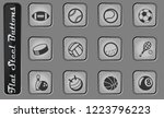 sport balls vector web icons on ... | Shutterstock .eps vector #1223796223