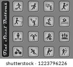 sport vector web icons on the... | Shutterstock .eps vector #1223796226