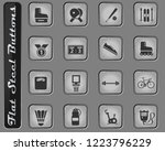 sport vector web icons on the... | Shutterstock .eps vector #1223796229