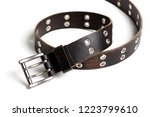 rock style leather belt for men.... | Shutterstock . vector #1223799610