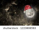 the moon is wearing a hat for...   Shutterstock . vector #1223808583