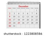december 25 in the calendar on... | Shutterstock . vector #1223808586