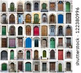 A Collage Of Colorful Doors