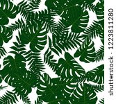 vector seamless tropical... | Shutterstock .eps vector #1223811280