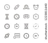 time and clock linear icon set. ...   Shutterstock .eps vector #1223811640