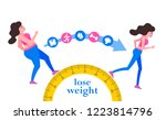 weight loss. the influence of... | Shutterstock .eps vector #1223814796