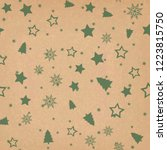 seamless pattern with christmas ... | Shutterstock .eps vector #1223815750