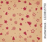 seamless pattern with christmas ... | Shutterstock .eps vector #1223815753