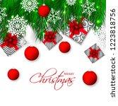 christmas party invitation... | Shutterstock .eps vector #1223818756
