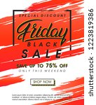 black friday sale banner... | Shutterstock .eps vector #1223819386