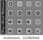 media player vector web icons... | Shutterstock .eps vector #1223820466