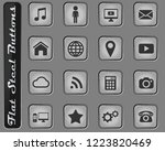 social media vector web icons... | Shutterstock .eps vector #1223820469
