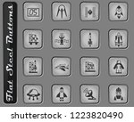 spacecrafts vector web icons on ... | Shutterstock .eps vector #1223820490