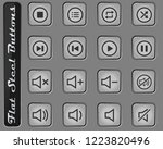 media player vector web icons... | Shutterstock .eps vector #1223820496