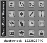skiing vector web icons on the... | Shutterstock .eps vector #1223825740