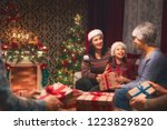 merry christmas and happy... | Shutterstock . vector #1223829820