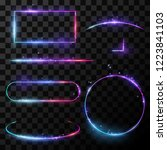 light neon frames | Shutterstock .eps vector #1223841103