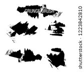 vector set of grunge brush... | Shutterstock .eps vector #1223842810